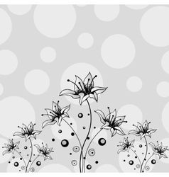 Flower hand drawn design vector image