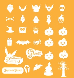 Halloween icon sets vector image