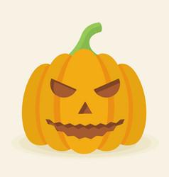 halloween pumpkin icon isolated evil pumkin vector image vector image