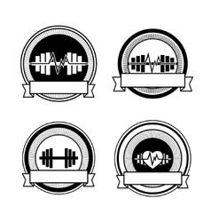Healthy sports vector image