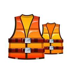 Icon safety vest vector