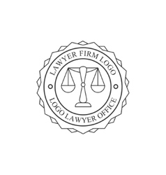 Law Firm And Lawyer Office Black And White Logo vector image
