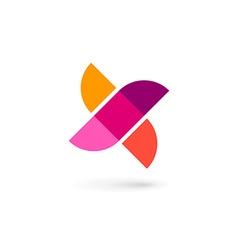 Letter x bird mosaic logo icon design template vector