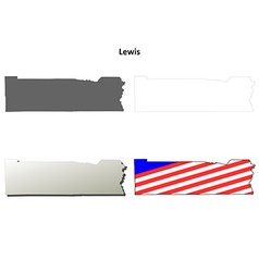 Lewis map icon set vector