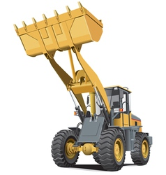 Light brown front end loader vector