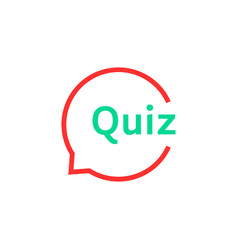 linear quiz speech bubble vector image vector image