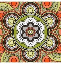 Mandala pattern greeting card vector image vector image