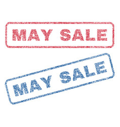 May sale textile stamps vector