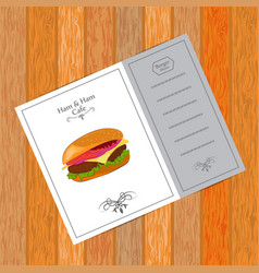 Menu for fast food cafe vector