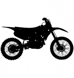 Motocross bike vector