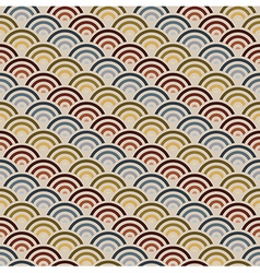Orient style circles background vector image vector image