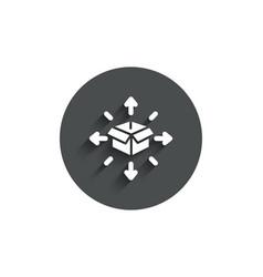 Parcel delivery simple icon logistics service vector