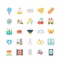 Party and celebration icons 6 vector