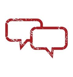 Red grunge conversation logo vector image