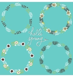 Set of floral frame Beautiful collection of vector image vector image