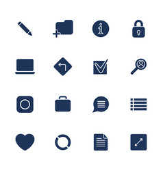 simple internet icons set universal internet vector image vector image