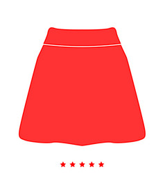 skirt icon flat style vector image vector image