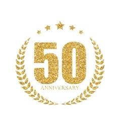 Template Logo 50 Years Anniversary vector image