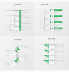 Timeline design 4 item green gradient color vector