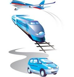 travel elements vector image