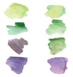 Watercolor grunge spots banners for your design vector image vector image