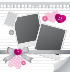 white frame for photos vector image vector image