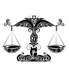 zodiac signs of Libra vector image vector image