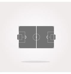 Football soccer field on web icon sport vector