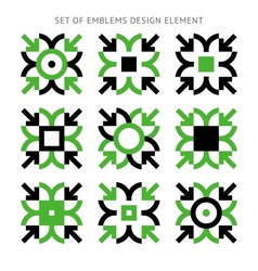 Set of emblems design element-02 vector