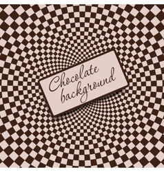 Retro vintage grunge hypnotic chocolate background vector