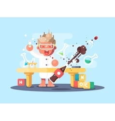 Young chemist characters vector