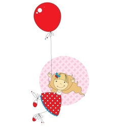Girl with a balloon vector