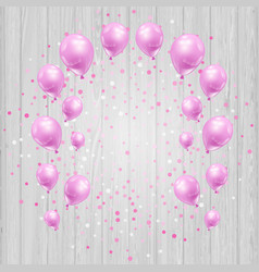 Celebration background with pink balloons and vector