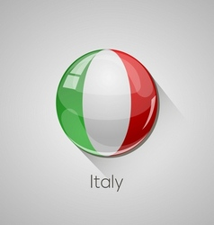 European flags set - italy vector