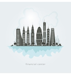 City financial center vector