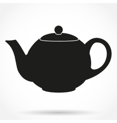 Silhouette symbol of classic teapot vector