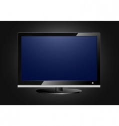 flat screen tv vector image
