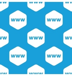 Www hexagon pattern vector