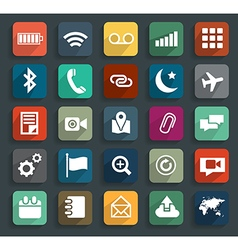 Technology business flat icons modern template des vector