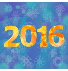Polygonal new year numbers vector