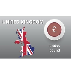 Map of great britain the button vector
