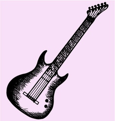 Electric modern guitar vector