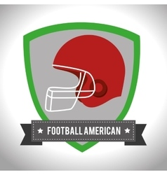 American Football sport game vector image