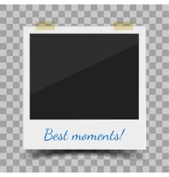 Old style photo frame vector