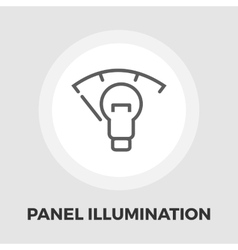 Car panel illumination icon flat vector