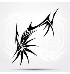 Sharp tribal tattoo vector