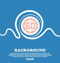 60 second stopwatch icon sign blue and white vector