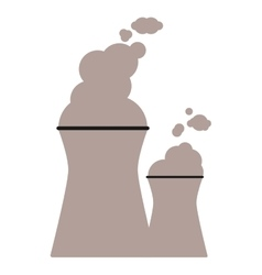 Nuclear chimney icon vector