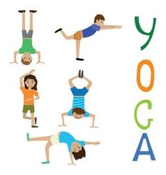 Yoga exercises for teens vector