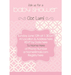 Baby-Shower Classic Pink vector image